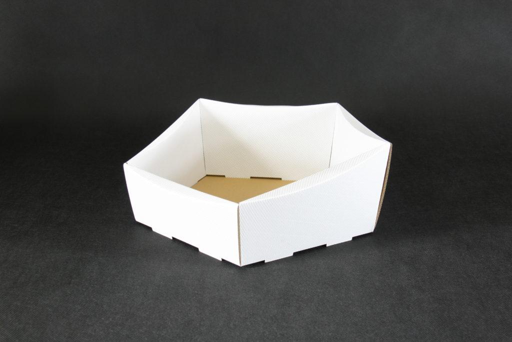 kosz prezentowy biały
